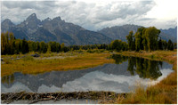 Tetons - Dam and Reflections